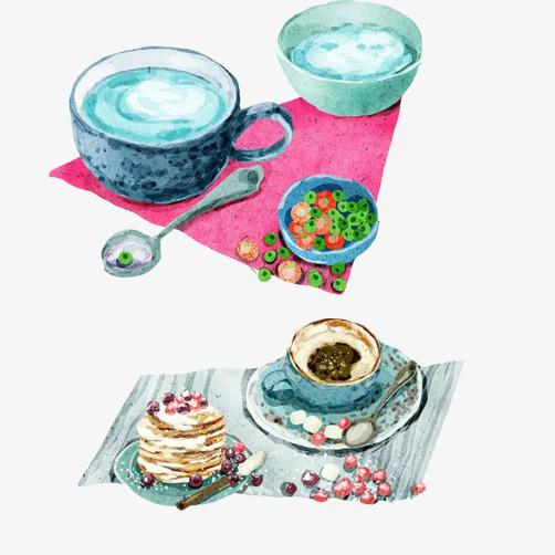 下午茶系列手绘素材图片