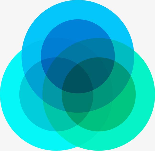 矢量手绘环形ppt图案