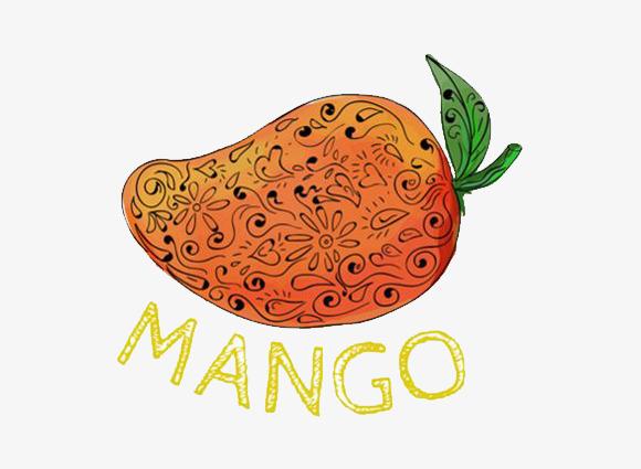 手绘图案的芒果