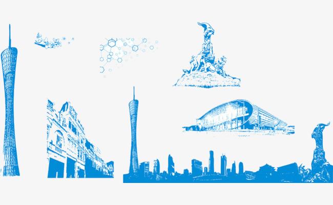 广州标志建筑手绘