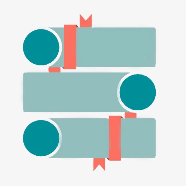 矩形与圆形ppt装饰图案【高清装饰元素png素材】-90