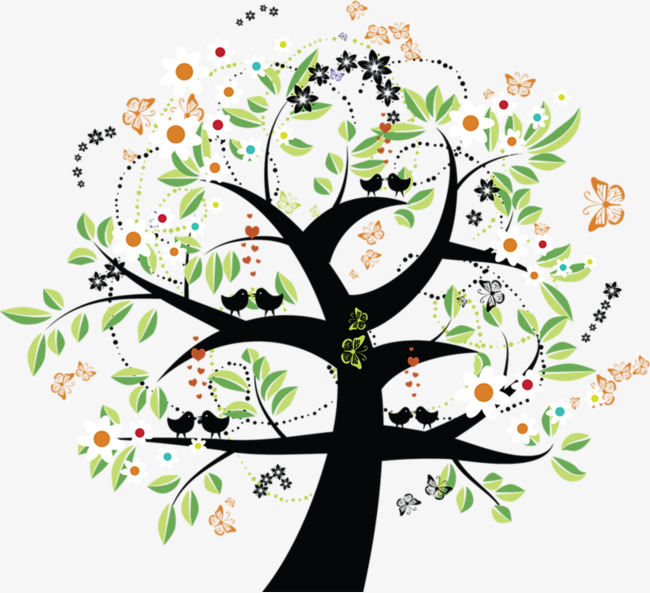 手绘 唯美 创意 大树 绿叶手绘 唯美 创意 大树 绿叶免扣素材