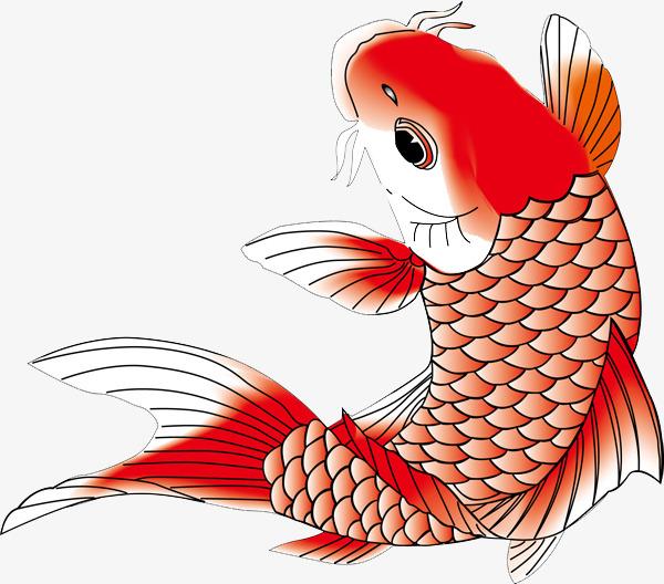 中国风手绘鲤鱼