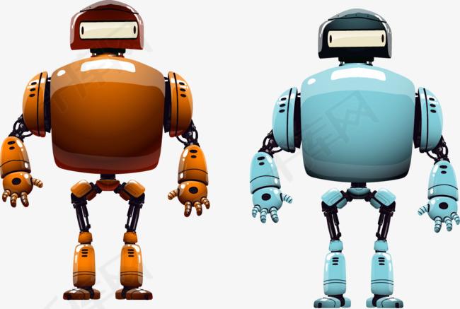 矢量手绘机器人素材图片免费下载 高清装饰图案psd 千库网 图片编号