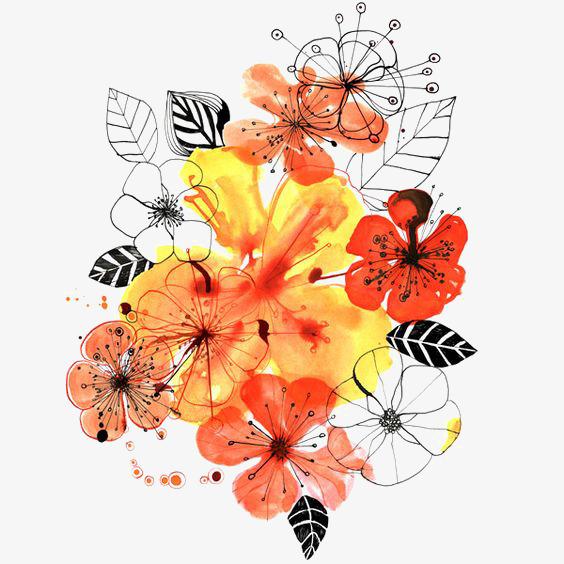 ps手绘花朵 动漫效果