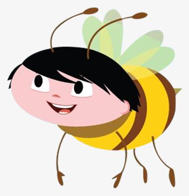 手绘表情蜜蜂