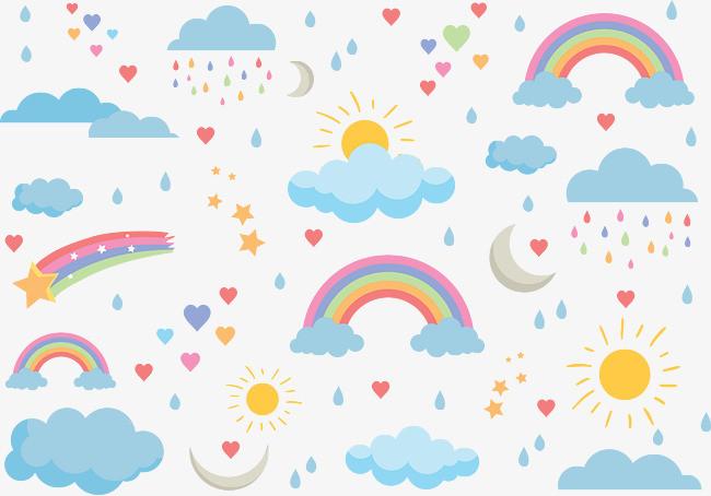 各种天气创意矢量图图片