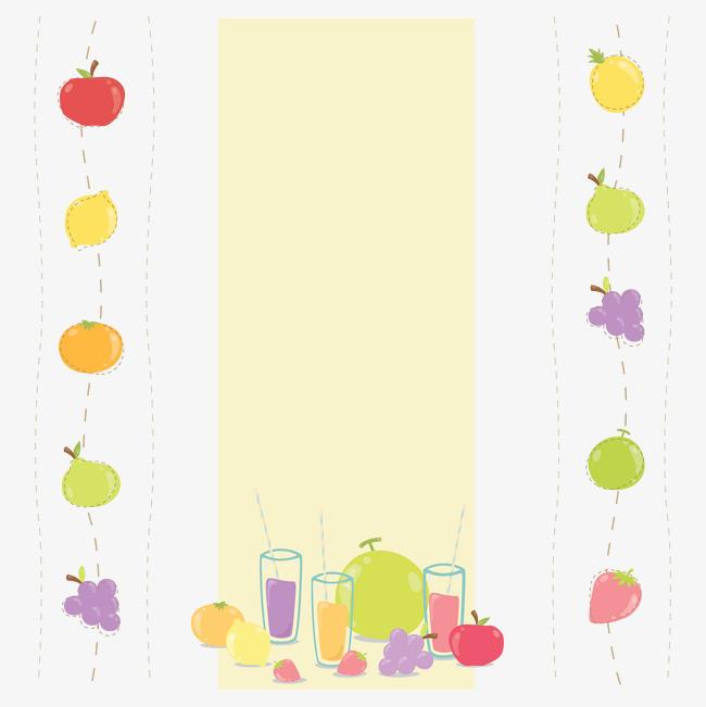 卡通水果花边素材图片免费下载_高清装饰图案png_千库