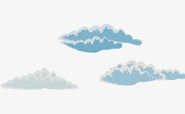 矢量手绘白云