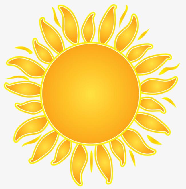 手绘黄色太阳
