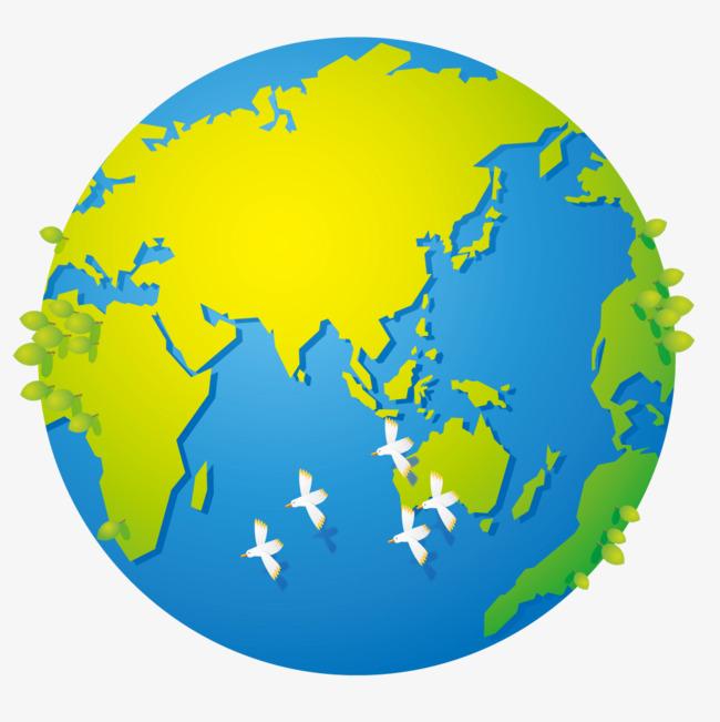俯视地球素材图片免费下载 高清卡通手绘psd 千库网 图片编号6466314