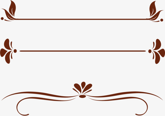 简约法式花纹矢量素材图片