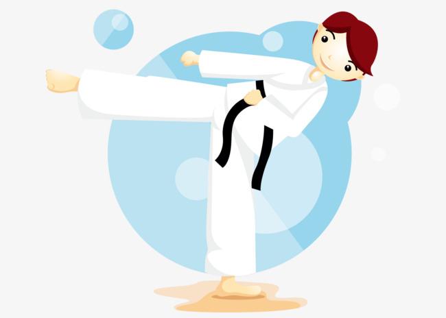 手绘运动跆拳道