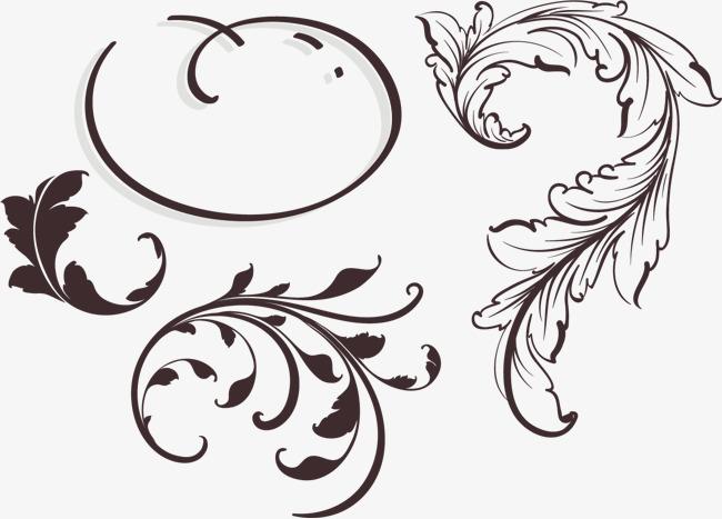 欧式漂亮法式花纹图片