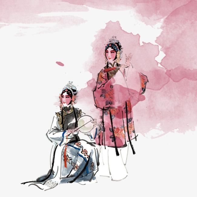 中国风戏剧手绘【高清png素材】-90设计