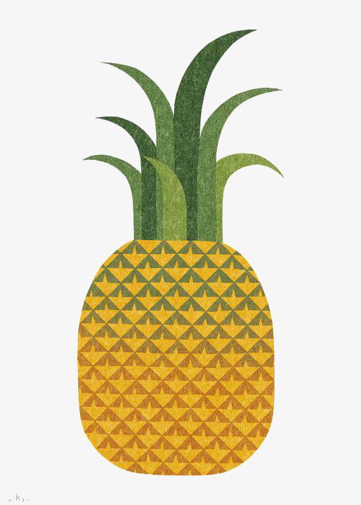 创意手绘菠萝