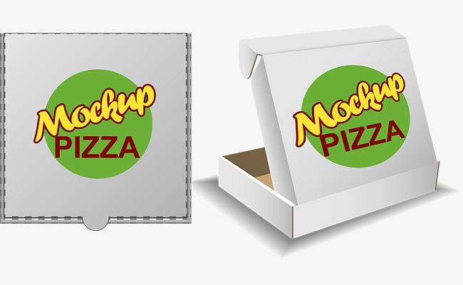 矢量手绘披萨盒包装png素材-90设计图片