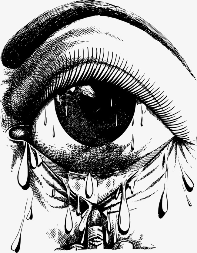 手绘黑色眼睛