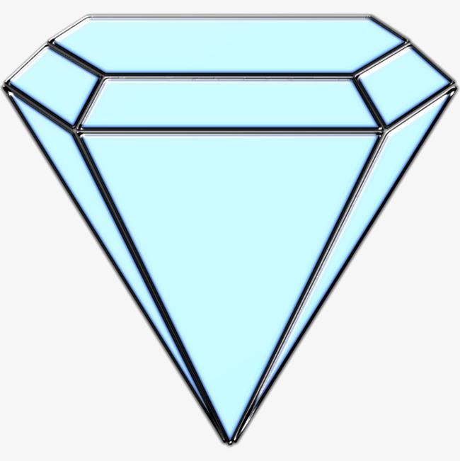 浅蓝色的钻石png素材-90设计