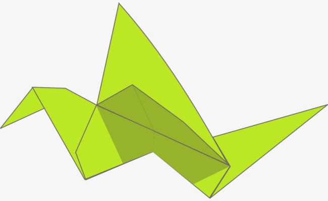 绿色的卡通千纸鹤图片