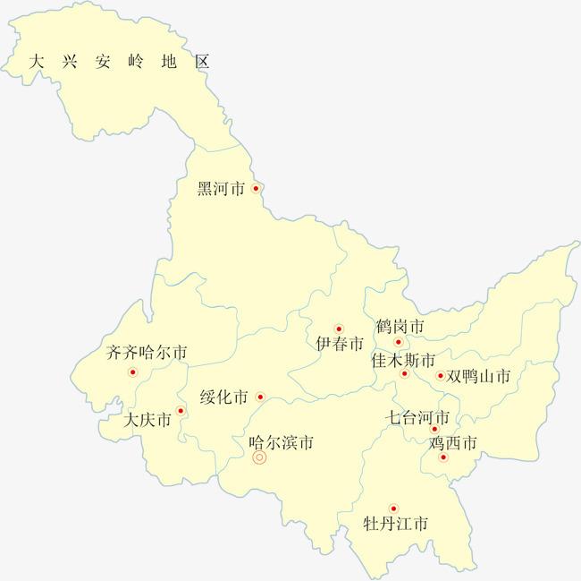 黑龙江矢量地图