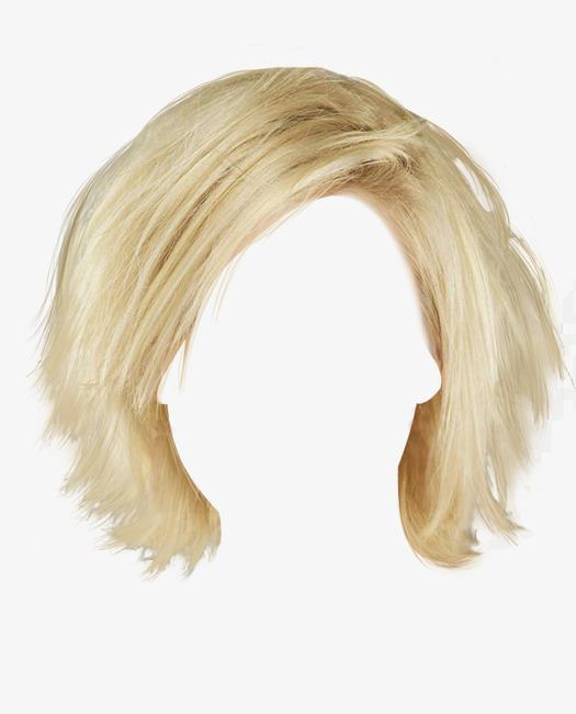 时尚白色短发假发素材图片免费下载 高清产品实物png 千库网 图片编号6492479