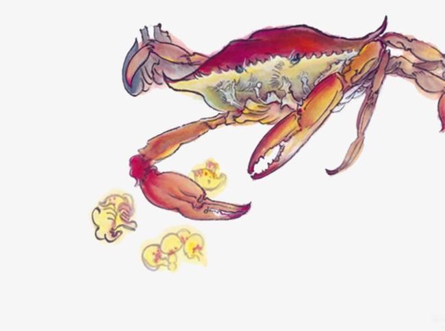 手绘大螃蟹