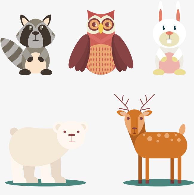 可爱的森林小动物