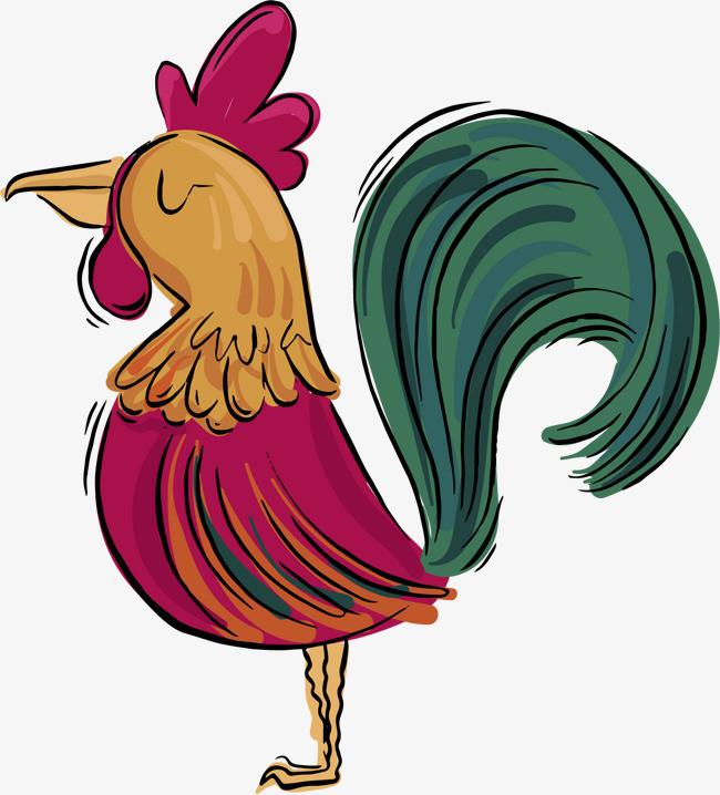 图片 > 【png】 矢量手绘大公鸡  分类:手绘动漫 类目:其他 格式:png