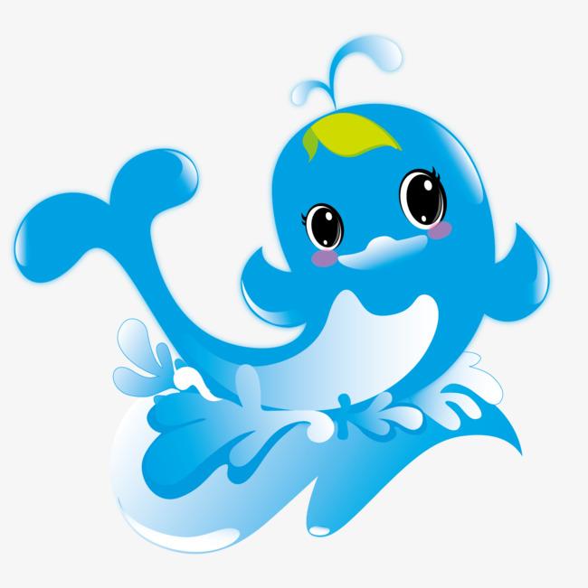 卡通鱼形水滴png素材-90设计图片
