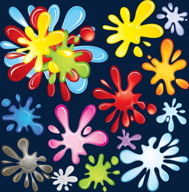 图片 > 【png】 彩色油漆花朵  分类:手绘动漫 类目:其他 格式:png