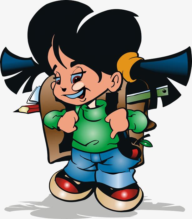 图片 > 【png】 背书包的小女孩  分类:手绘动漫 类目:其他 格式:png