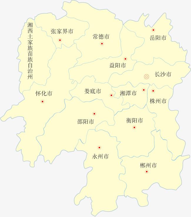 湖南省矢量地图矢量地图省份地图省级行政区地图中国省份地图矢量-