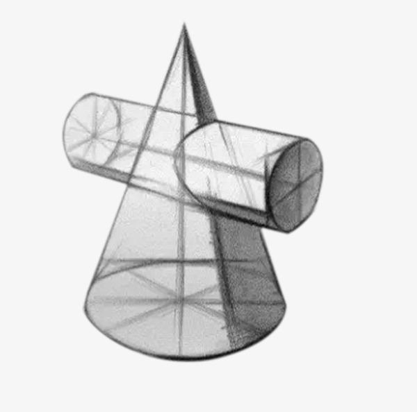 立体圆锥形几何石膏