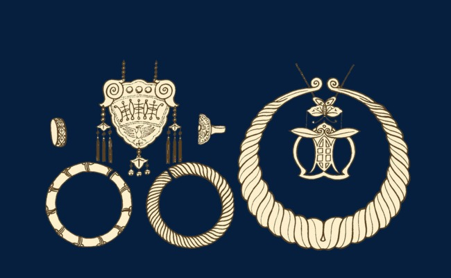 苗族银饰手绘图