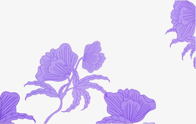 手绘紫藤花底纹素材