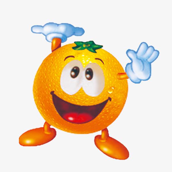 橙子 手套 表情 趣味 可爱             此素材是90设计网官方设计出