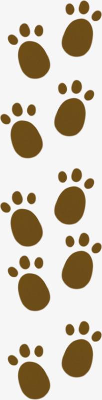 棕色卡通脚印图片