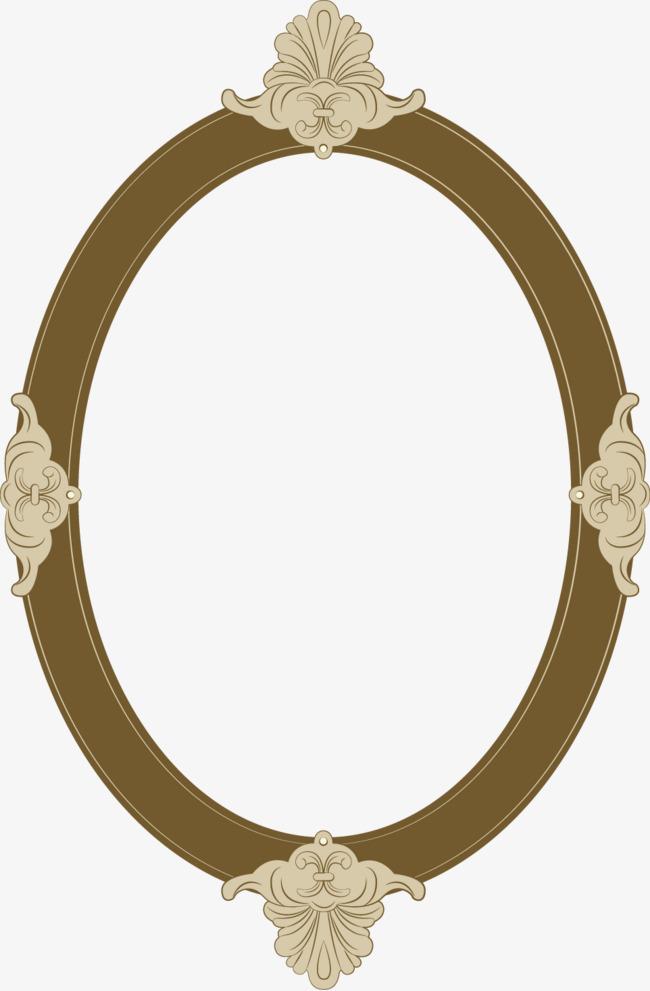 矢量复古欧式椭圆边框【高清边框纹理png素材】-90设计