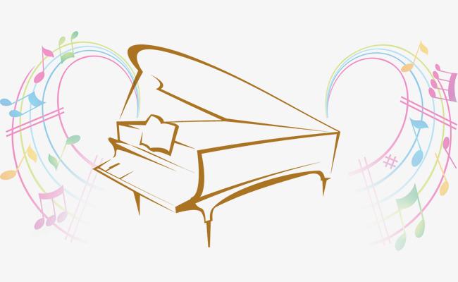 简笔画钢琴音符高清免抠素材图片免费下载 高清图片pngpsd 千库网