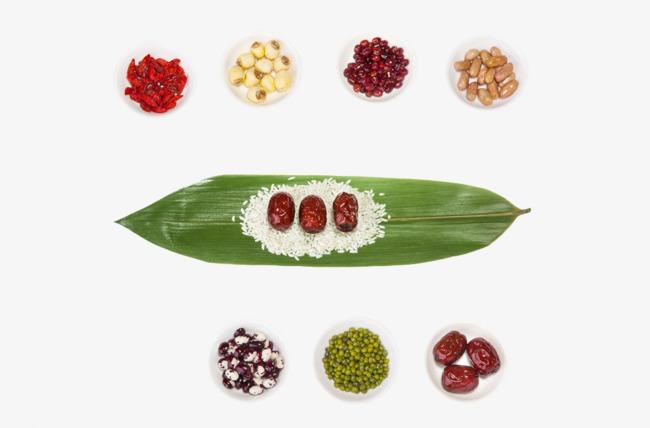 粽子叶上的五谷杂粮素材图片免费下载 高清装饰图案png 千库网 图片