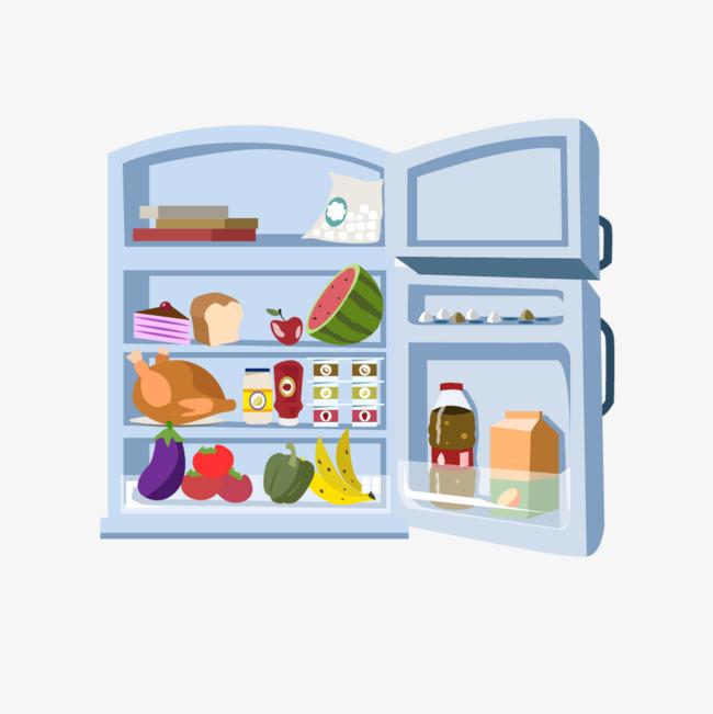 打开的冰箱矢量图素材图片免费下载 高清psd 千库网 图片编号6509874