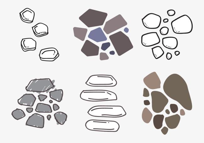 石头石路板矢量【高清装饰元素png素材】-90设计