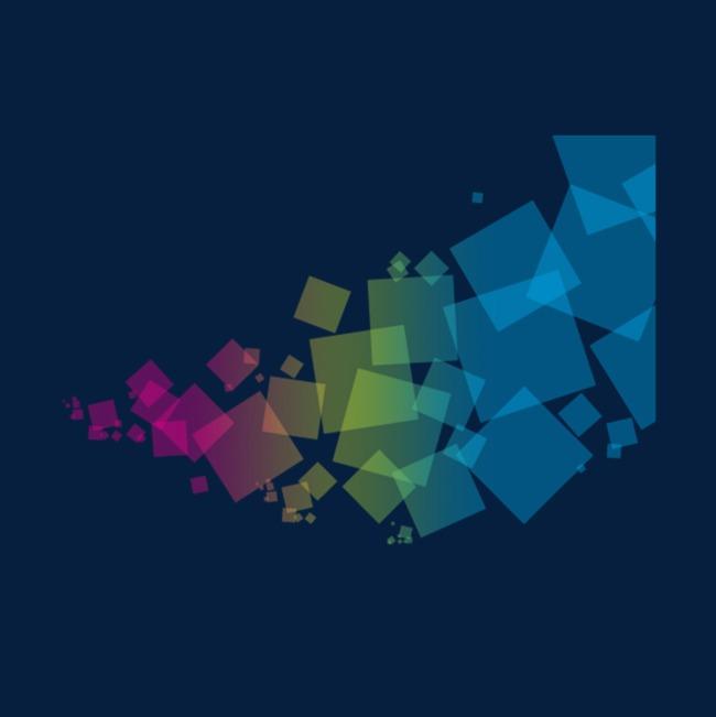 科技渐变正方形抽象图形