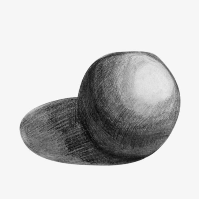 圆球几何石膏【高清装饰元素png素材】-90设计