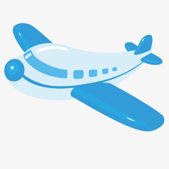 图片 > 【png】 卡通蓝色飞机  分类:手绘动漫 类目:其他 格式:png