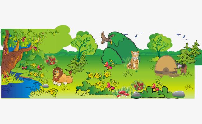 卡通动物森林