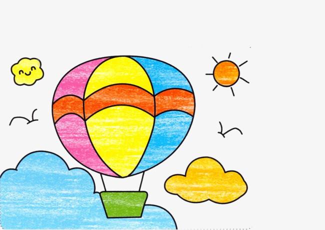少儿美术热气球图片