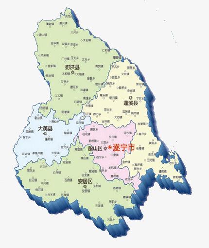 四川遂宁地图