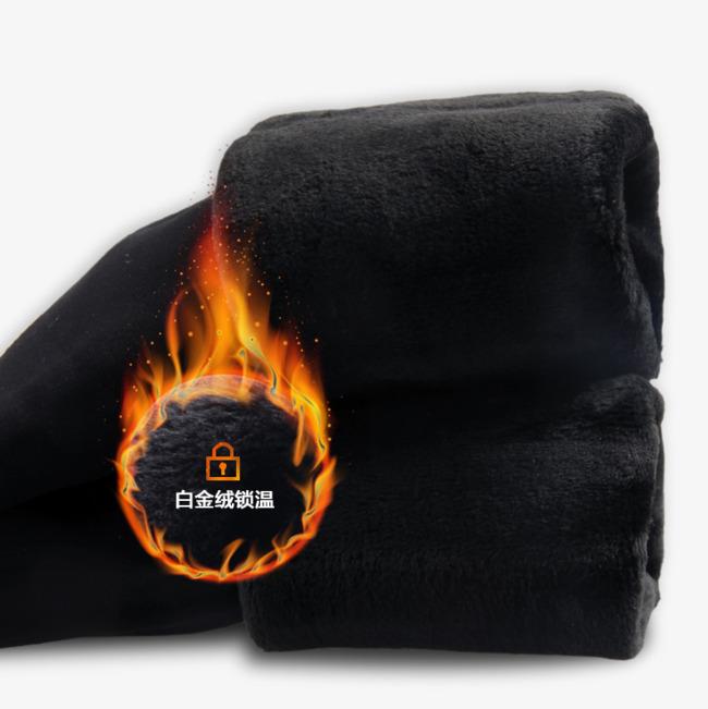 加绒加厚火焰免抠素材